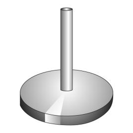 Chromstahlständer  für Stange Ø 35-45 mm, Ständer Ø 40 cm