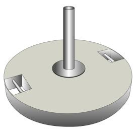 Betonsockel für Fahnenstangen grau 60 kg für 1 Stange Ø 28-35 mm